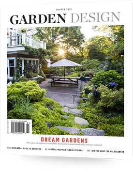 Subscribe order the magazine garden design for Garden design examples