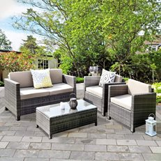 Rattan Patio Set, Outdoor Furniture Wisteria Lane ,