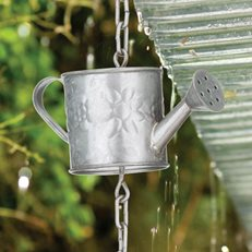 Watering Can Rain Chain, Rain Chain, Garden Decor Regal ,