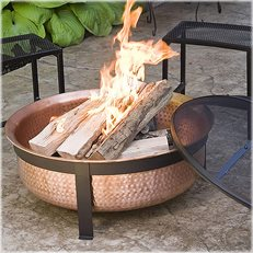 Copper Fire Bowl, Deep Fire Bowl CobraCo ,