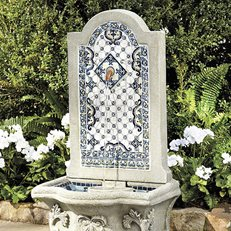 Mediterranean Fountain, Ceramic Tile Ballard Designs