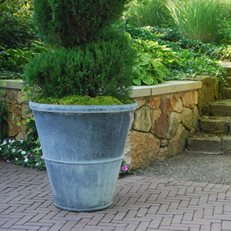 Tapered Pot, Hudson Pot Detroit Garden Works Sylvan Lake, MI