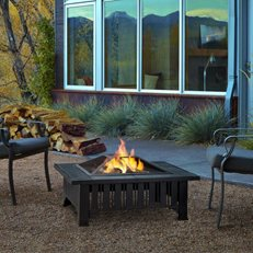 Tile Fire Pit, Slate Fire Pit Real Flame ,