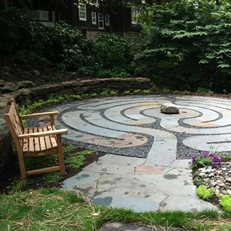 Labyrinth Entrance Claire Jones Landscapes LLC Sparks, MD