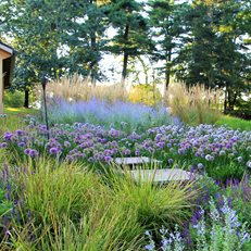 Farmhouse Garden Growing Green in Pennsylvania Donald Pell Landscape Design Phoenixville, PA