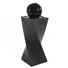 Solar Fountain, Black Fountain Sunnydaze Decor ,