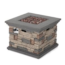 Stone Fire Pit, Lava Rocks Noble House ,