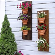 Diy Vertical Planter, Terra Cotta Pots Garden Answer