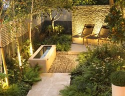 Dry Stone Wall, Water Tough, Small Garden Small Garden Pictures Daniel Shea Contemporary Garden Design Norfolk, UK