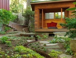 Meditation Hut, Meditation Garden Small Garden Pictures Julie Moir Messervy  Design Studio Saxtons River,