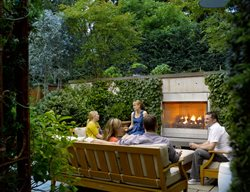 small garden garden fireplace small garden pictures scot eckley inc seattle wa - Small Garden Design