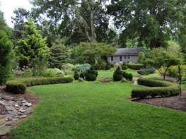 "Formal Hedges Of Dead Ends Gardens ""Dream Team's"" Portland Garden Garden Design Calimesa, CA"