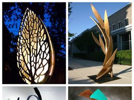 Public Art, Sculpture, Chicago Flower Show Garden Design Calimesa, CA