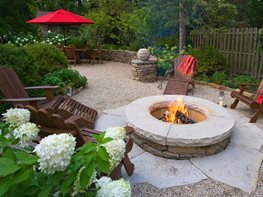 Fire Pit, Garden Entertaining Mariani Landscape Lake Bluff, IL