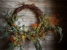 Fall Décor, Wreath, Autumn Wreath From-the-Garden Wreaths for Holiday Decorating: Slideshow Garden Design Calimesa, CA