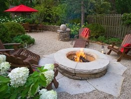 "Fire Pit, Garden Entertaining ""Dream Team's"" Portland Garden Mariani Landscape Lake Bluff, IL"
