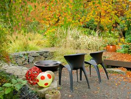 Fall Garden, Fire Bowl Seasons Garden Design Vancouver, WA