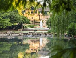 Fort Worth Botanic Garden, Fountain And Lake, Botanic Garden Shutterstock.com New York, NY