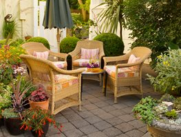 Wicker, Patio Furniture Garden Design Calimesa, CA