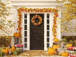 Fall Entry, Fall Porch, Fall Wreath Shutterstock.com New York, NY