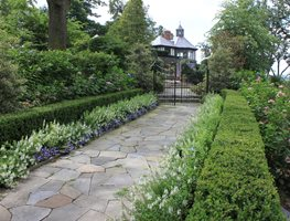 Garden Promenade, Flower Border Johnsen Landscapes & Pools Mount Kisco, NY