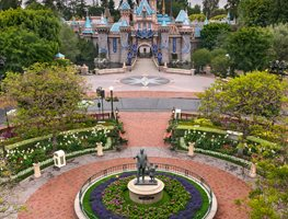 Disneyland, Roundabout, Sleeping Beauty Castle Garden Design Calimesa, CA
