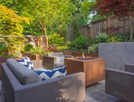 Outdoor Living Room, Retaining Walls Garden Design Calimesa, CA