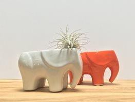Elephant Planter, Tabletop Planter Let there be Night Potted Los Angeles, CA