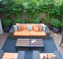 Nice Rooftop Terrace In Chelsea For Enteraining Garden Design Calimesa, CA