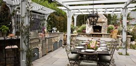 Heather Lenkin's Victorian-Inspired Outdoor Kitchen Lenkin Design Pasadena, CA