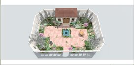 Garden Plan, Show Garden, El Patio Fuente, Northwest Flower And Garden Show Northwest Flower & Garden Show Seattle, WA