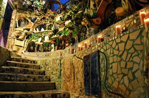 Philadelphia's Magic Gardens, Lit Up Stone Path Garden Design Calimesa, CA