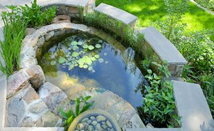 rainwater harvesting catchment pond tom mannion landscape design inc arlington va regional gardens