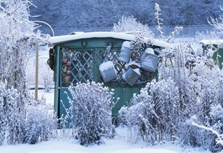 Winter Garden Shed, Winter Garden 7 Elegant Watering Essentials Shutterstock.com New York, NY