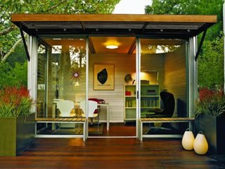 "Kithaus Prefab Office ""Dream Team's"" Portland Garden Garden Design Calimesa, CA"