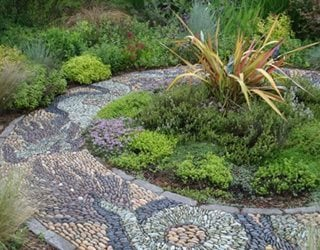 Walkways, Mosaic Garden Design Calimesa, CA