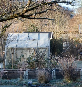 "Garden In Winter, Greenhouse ""Dream Team's"" Portland Garden Shutterstock.com New York, NY"