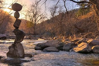 The Zen of Rock Balancing Garden Design