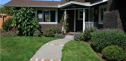 Landscape Design for Front Yards and Backyards | Garden Design on landscape idea for the front of your house, front walkways to house, frontrunners landscape designs house, landscaping near house,