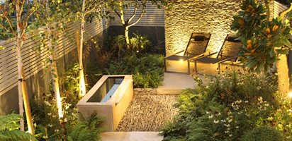 Dry Stone Wall, Water Tough, Small Garden Daniel Shea Contemporary Garden  Design Norfolk,