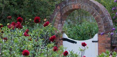 Brick Arch, Herbaceous Border Garden Design Calimesa, CA
