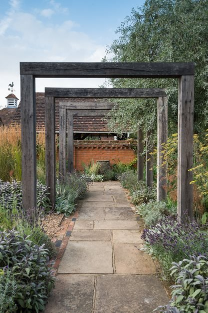 Pergola Walkway Garden Design Calimesa CA & Contemporary English Garden | Garden Design
