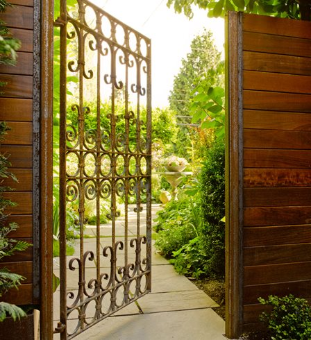 Antique Garden Gate, Metal Garden Gate Scot Eckley Inc. Seattle, WA