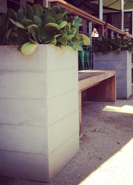 Board Formed Planters Hart Concrete Design Costa Mesa, CA