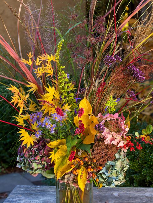 Autumn, Fall, Flower Arrangement Digging Dog Nursery ,