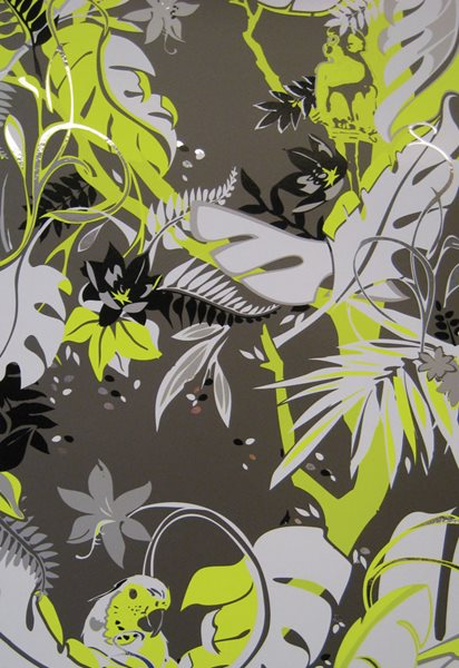 Bespoke Wallpaper from a Retro-Chic Brooklyn Design Studio Garden Design Calimesa, CA
