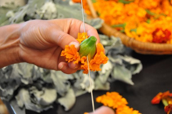 DIY Marigold Garlands Garden Design Calimesa, CA