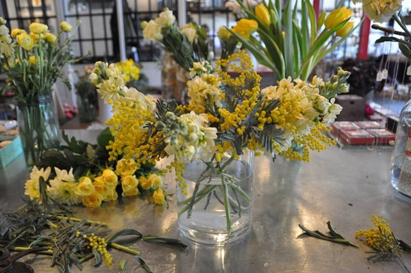 DIY Yellow Flower Arrangements Garden Design Calimesa, CA