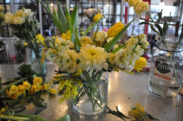 Notes from a Flower Farm: DIY Yellow Flower Arrangements Garden Design Calimesa, CA