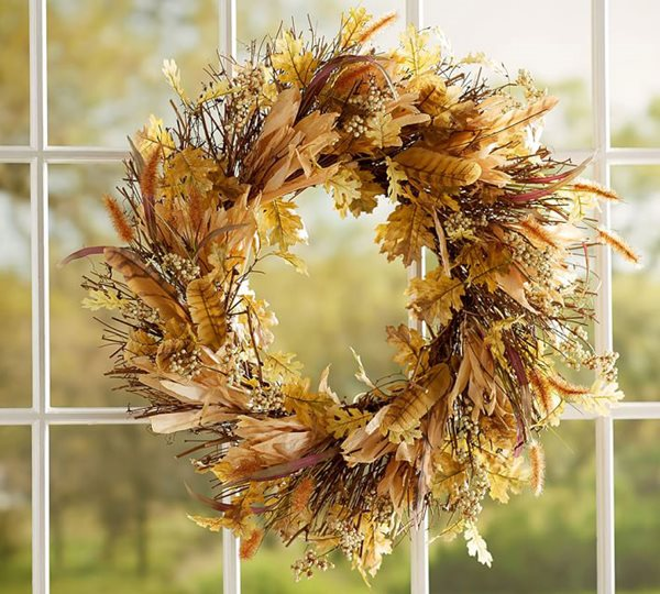 Fall Décor, Wreath, Cornhusk Wreath From-the-Garden Wreaths for Holiday Decorating: Slideshow Garden Design Calimesa, CA